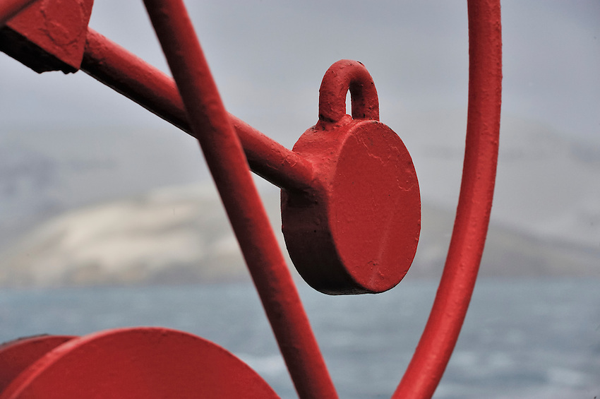 Gear I - Detail of deck gear on the MV Ushuaia
