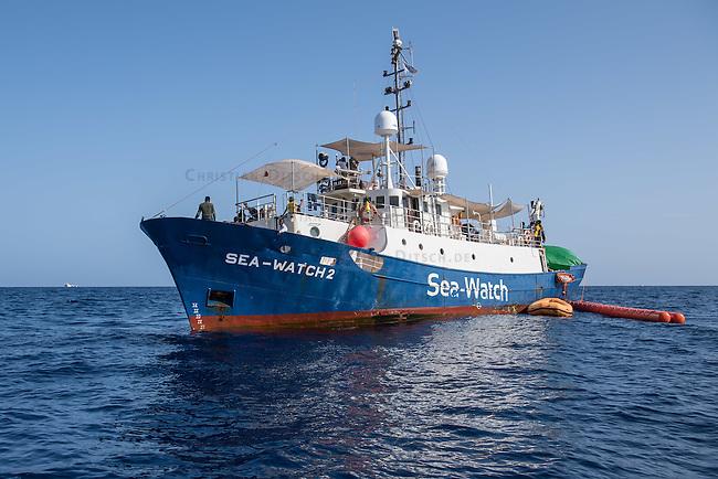 Sea Watch-2.<br /> Die Sea Watch-2 bei ihrer 13. SAR-Mission vor der libyschen Kueste.<br /> Im Bild: Die Sea Watch-2.<br /> 22.10.2016, Mediterranean Sea<br /> Copyright: Christian-Ditsch.de<br /> [Inhaltsveraendernde Manipulation des Fotos nur nach ausdruecklicher Genehmigung des Fotografen. Vereinbarungen ueber Abtretung von Persoenlichkeitsrechten/Model Release der abgebildeten Person/Personen liegen nicht vor. NO MODEL RELEASE! Nur fuer Redaktionelle Zwecke. Don't publish without copyright Christian-Ditsch.de, Veroeffentlichung nur mit Fotografennennung, sowie gegen Honorar, MwSt. und Beleg. Konto: I N G - D i B a, IBAN DE58500105175400192269, BIC INGDDEFFXXX, Kontakt: post@christian-ditsch.de<br /> Bei der Bearbeitung der Dateiinformationen darf die Urheberkennzeichnung in den EXIF- und  IPTC-Daten nicht entfernt werden, diese sind in digitalen Medien nach §95c UrhG rechtlich geschuetzt. Der Urhebervermerk wird gemaess §13 UrhG verlangt.]