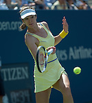 Galina Voskoboeva (KAZ) loses to Serena Williams (USA) at the US Open being played at USTA Billie Jean King National Tennis Center in Flushing, NY on August 29, 2013