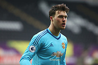 Sunday 18 March 2018<br /> Pictured:  Kieran O'Hara of Manchester United<br /> Re: Swansea City v Manchester United U23s in the Premier League 2 at The Liberty Stadium on March 18, 2018 in Swansea, Wales.