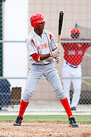 July 14, 2009:  Yorman Rodriguez of the GCL Reds during a game at Boston Red Sox Training Complex in Fort Myers, FL.  The GCL Reds are the Gulf Coast Rookie League affiliate of the Cincinnati Reds.  Photo By Mike Janes/Four Seam Images