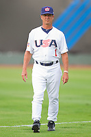 Team USA assistant coach Ed Blankmeyer #1 at Knights Stadium July 16, 2010, in Fort Mill, South Carolina.  Photo by Brian Westerholt / Four Seam Images