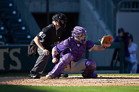at BB&T BallPark on March 2, 2019 in Charlotte, North Carolina. The Demon Deacons defeated the Paladins 13-7. (Brian Westerholt/Four Seam Images)