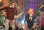 """Gerard Way with Weezer performs live at The Axe Music """"One Night Only"""" Concert series,Weezer headlines & takes over The Dunes Inn Motel in Hollywood, California on September 21,2010                                                                               © 2010 DVS / RockinExposures"""