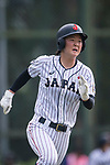 #2 Ogata Yuka of Japan runs after bating during the BFA Women's Baseball Asian Cup match between Japan and India at Sai Tso Wan Recreation Ground on September 6, 2017 in Hong Kong. Photo by Marcio Rodrigo Machado / Power Sport Images
