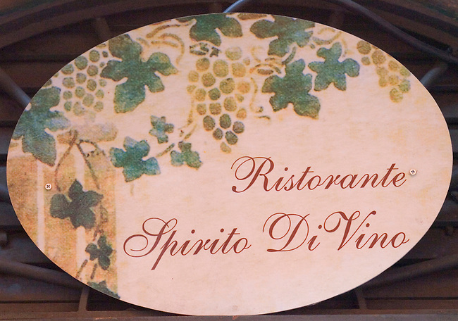 Painted Sign, Spirito Divino Restaurant, Rome, Italy
