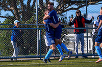 Action from the Central League football match between North Wellington and Wellington Olympic at Alex Moore Park in Johnsonville, New Zealand on Saturday, 27 March 2021. Photo: Dave Lintott / lintottphoto.co.nz