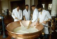 - dairy professional institute of Lodi agricultural consortium, working of  Grana Padano cheese<br /> <br /> - istituto professionale caseario del consorzio agricolo di Lodi, lavorazione del formaggio grana padano