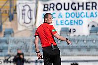 24th April 2021; Dens Park, Dundee, Scotland; Scottish Championship Football, Dundee FC versus Raith Rovers; Referee Willie Collum