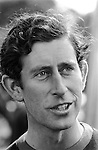 Prince Charles portrait playing Polo at the Ham Polo Club Surrey, UK 1980s. 1981