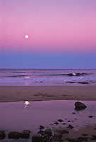 Moonrise on the east side of the island of Kauai