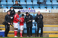Charlton Athletic Assistant Manager, Johnnie Jackson gives some final instructions to Chuks Aneke and Paul Smyth prior to them coming on as substitutes during Gillingham vs Charlton Athletic, Sky Bet EFL League 1 Football at the MEMS Priestfield Stadium on 21st November 2020