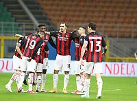 Milano 01-05 2021<br /> Stadio Giuseppe Meazza<br /> Serie A  Tim 2020/21<br /> Milan - Benevento<br /> Nella foto:  Ibra leader                                    <br /> Antonio Saia Kines Milano