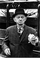 Sandwich Man was a vendor at the Englishtown Auction. The Englishtown Auction is one of the great flea markets. This series of photos are circa 1970.