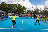 Netherlands, September 5,  2020, Amsterdam, Padel Dam, NK Padel, National Padel Championships, Womans doubles:  Michaella Krajicek (NED) (L) and Steffie Weterings (NED)<br /> Photo: Henk Koster/tennisimages.com