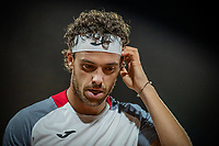 2nd October 2020, Roland Garros, Paris, France; French Open tennis, Roland Garros 2020;  Marco Cecchinato of Italy reacts during the mens singles third round match against Alexander Zverev of Germany