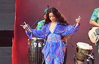 NEW YORK, NY- SEPTEMBER 25: Camila Cabello at the 2021 Global Citizen Live Festival at the Great Lawn in Central Park, New York City on September 25, 2021. Credit: John Palmer/MediaPunch