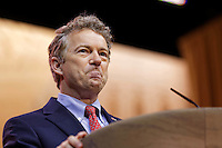 Kentucky Senator Rand Paul makes a speech at the 2014 CPAC conference in National Harbor, Maryland March 7, 2014. photo by Trevor Collens.