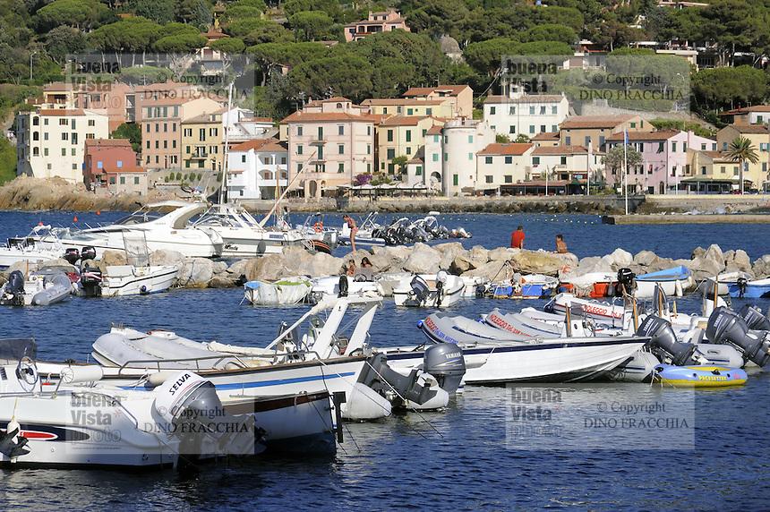 - the tourist harbor of Marciana Marina  (Elba island)....- il porto turistico di Marciana Marina (Isola D'Elba)