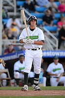 Jamestown Jammers designated hitter Danny Collins #36 during a game against the Williamsport Crosscutters on June 20, 2013 at Russell Diethrick Park in Jamestown, New York.  Jamestown defeated Williamsport 12-6.  (Mike Janes/Four Seam Images)
