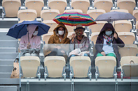 29th September 2020, Roland Garros, Paris, France; French Open tennis, Roland Garros 2020;  Support team during the match between Mayar SHERIF EGY and Karolina PLISKOVA CZE in the Philippe Chatrier court on the first round of the French Open