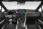 Stock photo of straight dashboard view of 2021 Lexus RX 450h-F-SPORT 5 Door SUV Dashboard