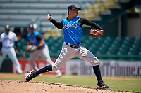 Tampa Tarpons starting pitcher Miguel Yajure (31) during a Florida State League game against the Bradenton Marauders on May 26, 2019 at LECOM Park in Bradenton, Florida.  Bradenton defeated Tampa 3-1.  (Mike Janes/Four Seam Images)