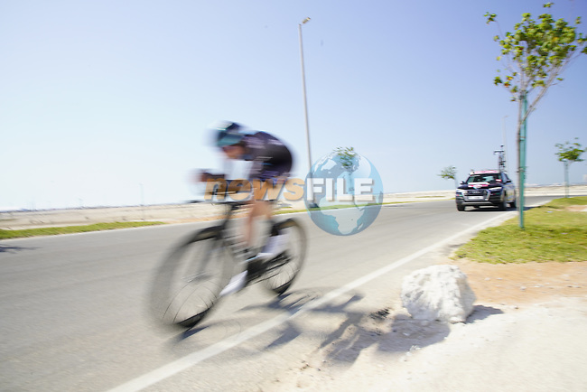 Florian Stork (GER) Team DSM speeds by during Stage 2 of the 2021 UAE Tour an individual time trial running 13km around  Al Hudayriyat Island, Abu Dhabi, UAE. 22nd February 2021.  <br /> Picture: Eoin Clarke | Cyclefile<br /> <br /> All photos usage must carry mandatory copyright credit (© Cyclefile | Eoin Clarke)