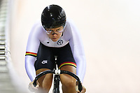 Jaymie King competes in the Women Elite Sprint during the 2020 Vantage Elite and U19 Track Cycling National Championships at the Avantidrome in Cambridge, New Zealand on Friday, 24 January 2020. ( Mandatory Photo Credit: Dianne Manson )