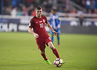 San Jose, Ca - Friday March 24, 2017: Christian Pulisic during the USA Men's National Team defeat of Honduras 6-0 during their 2018 FIFA World Cup Qualifying Hexagonal match at Avaya Stadium.