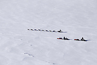 Saturday March 10, 2012 A dog team finds company along the Yukon river in the form of two travelers on snow machines, between Galena and Nulato. Iditarod 2012.