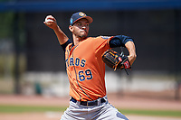 Houston Astros pitcher Elian Rodriguez (69) during a Minor League Spring Training Intrasquad game on March 28, 2018 at FITTEAM Ballpark of the Palm Beaches in West Palm Beach, Florida.  (Mike Janes/Four Seam Images)