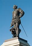 Sir Francis Drake, statue Plymouth Hoe, Plymouth Devon England 2016