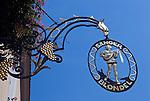 Austria, Lower Austria, UNESCO World Heritage Wachau, Duernstein: Hotel Restaurant Singer Blondel, guild sign...