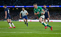 Saturday 1st February 2020 | Ireland vs Scotland<br /> <br /> Jonathan Sexton scores during the 2020 6 Nations Championship   clash between Ireland and Scotland at he Aviva Stadium, Lansdowne Road, Dublin, Ireland. Photo by John Dickson / DICKSONDIGITAL