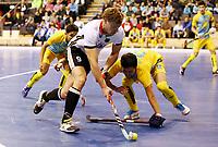 Alexander Otte, Nurzhan Beibitov /   /        /   <br /> / Sport / Hockey Hnhockey / World Championships Weltmeisterschaft  /  2017/2018 / 07.02.2018 / GER BRGermany vs. Kasachstan 180207044 /  *** Local Caption *** © pixathlon<br /> Contact: +49-40-22 63 02 60 , info@pixathlon.de