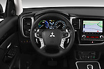Car pictures of steering wheel view of a 2020 Mitsubishi Outlander-PHEV Intense 5 Door SUV Steering Wheel