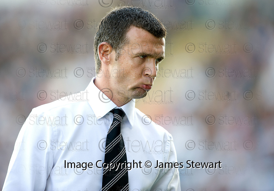 07/08/2010   Copyright  Pic : James Stewart.sct_jsp007_falkirk_v_dunfermline  .::  DUNFERMLINE MANAGER JIM MCINTYRE  ::  .James Stewart Photography 19 Carronlea Drive, Falkirk. FK2 8DN      Vat Reg No. 607 6932 25.Telephone      : +44 (0)1324 570291 .Mobile              : +44 (0)7721 416997.E-mail  :  jim@jspa.co.uk.If you require further information then contact Jim Stewart on any of the numbers above.........