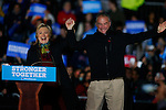 Hillary Clinton and Tim Kaine during Campaign in Pennsylvania
