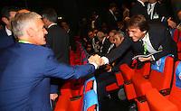 Didier Deschamps e Antonio Conte <br /> Parigi 12-12-2015 Sorteggio fase finale Euro 2016 campionato Europeo di Calcio per Nazioni Francia 2016 <br /> Foto Gwendoline Le Goff Panoramic / Insidefoto