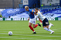 Ross McCrorie of Portsmouth and Marcus Browne of Oxford United vie for the ball during Portsmouth vs Oxford United, Sky Bet EFL League 1 Play-Off Semi-Final Football at Fratton Park on 3rd July 2020