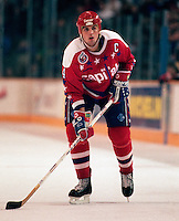 Kevin Hatcher Washington Capitals 1993. Photo copyright F. Scott Grant