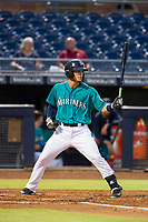 AZL Mariners designated hitter Geoandry Montilla (22) at bat against the AZL Royals on July 29, 2017 at Peoria Stadium in Peoria, Arizona. AZL Royals defeated the AZL Mariners 11-4. (Zachary Lucy/Four Seam Images)