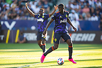 CARSON, CA - JUNE 19: Abdoulaye Cissoko #92 of the Seattle Sounders FC moves to the ball during a game between Seattle Sounders FC and Los Angeles Galaxy at Dignity Health Sports Park on June 19, 2021 in Carson, California.