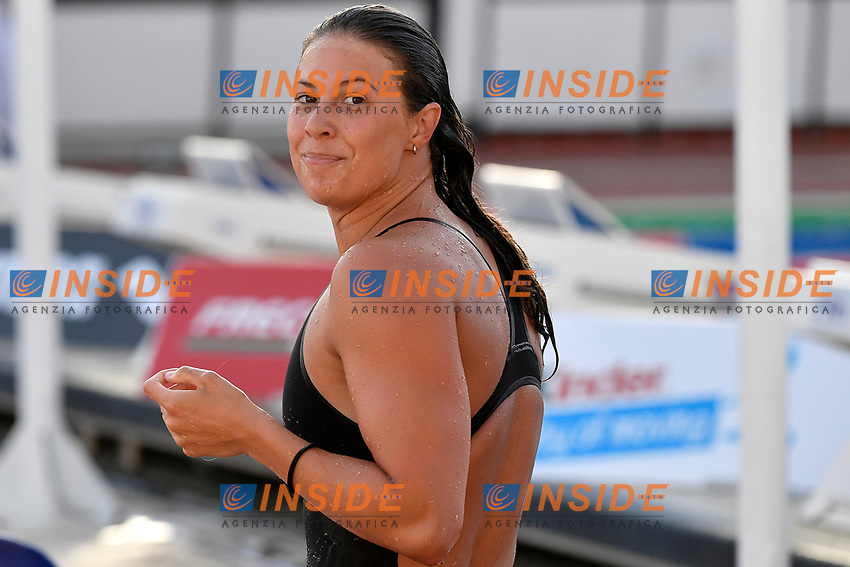 Arianna Castiglioni of Italy reacts after competing in the women 100m breaststroke during the 58th Sette Colli Trophy International Swimming Championships at Foro Italico in Rome, June 25th, 2021. Arianna Castiglioni placed first with a new italian record. <br /> Photo Andrea Staccioli/Insidefoto/Deepbluemedia