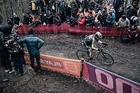 mountainbiker Marcel Wildhaber (SUI/Scott-SRAM) testing himself in the (CX) Elite Men's race<br /> <br /> UCI CX World Cup Namur / Belgium 2017
