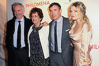 """NEW YORK, NY - NOVEMBER 12: Martin Sixsmith, Philomena Lee, Steve Coogan, Sophie Kennedy Clark at the New York Premiere Of The Weinstein Company's """"Philomena"""" held at Paris Theater on November 12, 2013 in New York City. (Photo by Jeffery Duran/Celebrity Monitor)"""