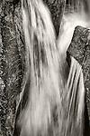 Spring waterfall, Deadman Creek near Sonora Pass, Tuolumne County, Calif.