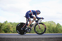 Jérome Coppel (FRA/IAM) speeding along; he will surprisingly finish 3rd at the end of the race<br /> <br /> Elite Men TT<br /> UCI Road World Championships / Richmond 2015
