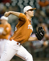 NCAA Baseball featuring the Texas Longhorns against the Missouri Tigers. Jungmann, Taylor 3487  at the 2010 Astros College Classic in Houston's Minute Maid Park on Sunday, March 7th, 2010. Photo by Andrew Woolley